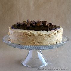 *peanut butter chocolate cake with peanut butter frosting and chocolate ganache: can be made in 2 layers instead of 3; add a bit of oil to increase moistness