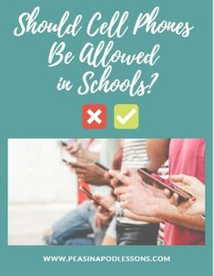 You must ask the question: Is allowing cell phones in schools, helping or hurting our children? Third Grade Writing, Teaching 5th Grade, 5th Grade Classroom, Primary Classroom, Teaching Kindergarten, Second Grade, Preschool, Classroom Ideas, Free Teaching Resources