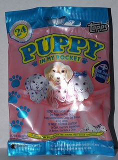Puppy in my Pocket.I used to have tons of these things plus kitten in my pocket Right In The Childhood, 90s Childhood, My Childhood Memories, Retro Toys, Vintage Toys, 90s Nostalgia, 80s Kids, Barbie, My Pocket