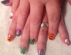 Halloween nails done by Lyndell
