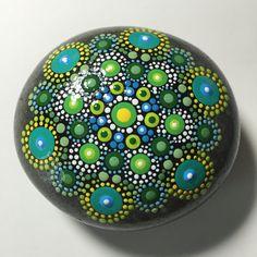Hand Painted Mandala Stone, Mandala Meditation Stone, Dot Art Stone, Healing…