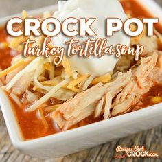 Our Crock Pot Turkey Tortilla Soup takes turkey leftovers and gives them a whole new flavor to make those holiday leftovers taste totally different.