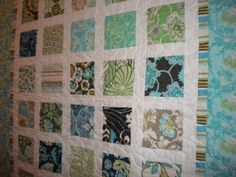 cute simple charm square scrappy quilt