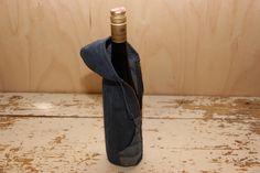 Denim wine bag , Wine bottle coat , Denim table decor , Wine bottle cover , Country wedding , Denim wedding decor , Barn Wedding Decor by SecondBirthday on Etsy
