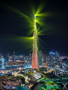 "This the latest laser show display from Burj Khalifa, quite impressive I must say. Also quite challenging to shoot due to the very fast speed of it. Shot from a building under construction in Downtown Dubai.  Follow me on <a href=""http://www.facebook.com/danielcheongphotography"">Facebook</a> 