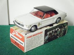 "Tekno No: 834 ""Ford Mustang"" - White/Black Roof (Boxed)"