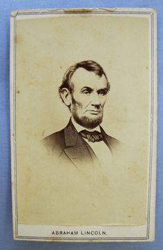 ANTIQUE CDV PHOTO PORTRAIT OF PRESIDENT ABRAHAM LINCOLN Abraham Lincoln Family, Presidents, War, Portrait, The Originals, Antiques, Antiquities, Antique, Headshot Photography