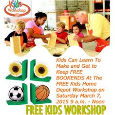 1000 images about free seminar and events on pinterest for Kids crafts at home depot