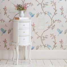 Provencal Round White Bedside Table - traditional - Nightstands And Bedside Tables - Other Metro - The French Bedroom Company