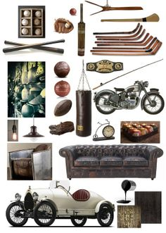 Sports Room Customized Mood Board by HomeAndPartyStylist on Etsy, £115.00
