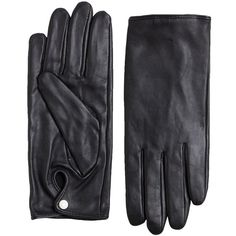 Pieces Leather Gloves (295 HRK) ❤ liked on Polyvore featuring accessories, gloves, leather gloves and lipsy
