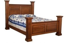 Poster bed made of solid hardwood by Amish craftsman. Available in various sizes and stains.