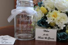 Wedding Guest Book Jar of Wishes Dream Wedding, Wedding Day, Wedding Favors For Guests, Nautical Wedding, Wedding Guest Book, Happily Ever After, Wedding Signs, Photo Booth, Getting Married