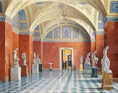 """Interiors of the Winter Palace"" by Luigi Premazzi."