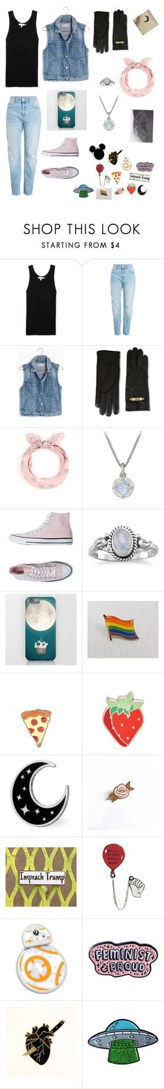 """""""Oliver 🌙🖤🐍"""" by softedwardelric ❤ liked on Polyvore featuring Madewell, Moschino, David Yurman, Converse, PINTRILL, Cufflinks, Inc., Punky Pins and Disney"""