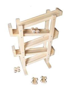 Wood Toy Single Track Flip-Flop Car Roller