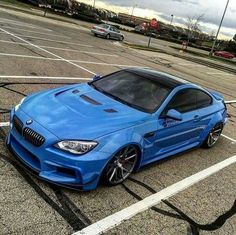 BMW F13 M6 blue widebody
