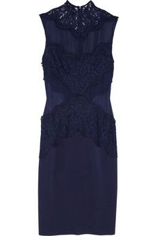 Lover Vee Vee lace, silk-chiffon and crepe dress | NET-A-PORTER