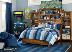 boy bedroom paint ideas | ... One of 5 total Images Modern Blue Color Scheme for Boys Kids Bedroom