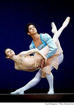 Tina LeBlanc and Isaac Hernández - SFO Ballet opening - Balanchine's Tchaikovsky Pas de Deux