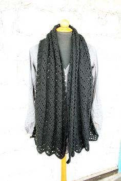 Crochet Rectangular Shawl  Chevron Wrap by aureliaslittleroom