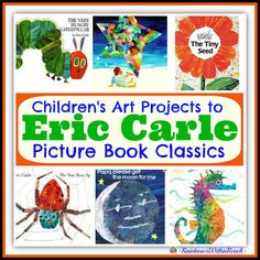 eric carle book and activities, childrens art books, eric carle projects, eric carle art activities, picture books, childrens book art projects, children art projects, book roundup, child art