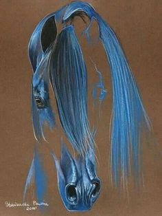 original western horse art on canvas or paper of tails to tell