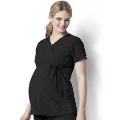 Easy Fit by Wonderwink Women's Mock Crossover Maternity Scrub Top | allheart.com #maternity #scrubs #nurse #doctor #hospitalstyle #medicalstyle