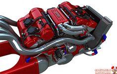 Da série, Eu quero! – Moto Ferrari V4 tem motor da Enzo
