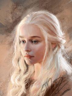 "Game of Thrones - Daenerys Targaryen ""Mother of Dragons"" by Mia Z on ArtStation Daenerys Targaryen Art, Emilia Clarke Daenerys Targaryen, Game Of Throne Daenerys, Khaleesi, Game Of Thrones Wallpaper, Game Of Thrones Instagram, Game Of Thrones Art, Portraits, Mother Of Dragons"