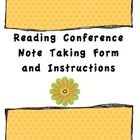 This freebie includes the note taking template that I use for Reading Workshop conferences along with explanations for what types of things to look...