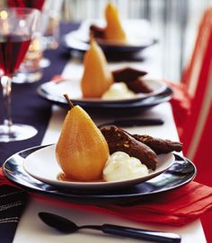 Pears In Quince Syrup