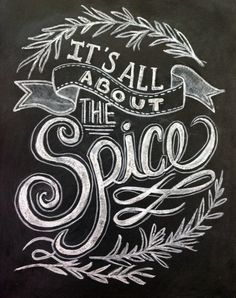 Hand Painted Kitchen Typography Chalkboard