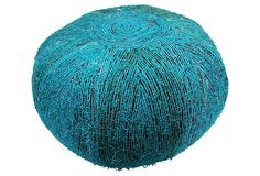 I would be buying this one in a heartbeat if it were still available, but apparently it's not.    .  Gabriella Pouf, Turquoise on OneKingsLane.com