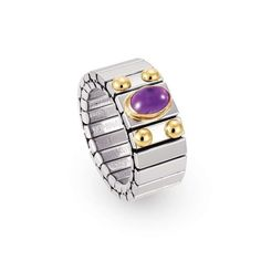 For over 30 years, the team at the Nomination jewellery brand have combined the best of Florentine artisanal tradition with innovative technology in order to create desirable jewellery collections - all their products are made in Italy, and feature their distinctive Italian Style. This extension ring in stainless steel comes with 18kt gold and 1 amethyst semiprecious stone.