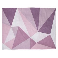 Gewebter Teppich \'Dreiecke\' rosa/lila 155x120cm
