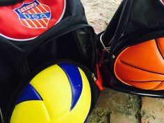 AAU Volleyball Backpack.  It can hold your volleyball and much more.  The ball cover is made from REAL VOLLEYBALL MATERIAL.  The covers are only $10.  The backpack comes with a basketball cover originally.