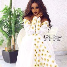 Traditional Wedding, Traditional Dresses, Ethiopian Traditional Dress, Ethiopian Dress, Eritrean, Hijab Fashion, Jasmine, White Dress, Wedding Dresses