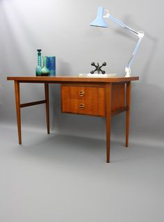 Louis Van Teeffelen Teak Desk For Webe 1955 Tabled Pinterest Desks And Vans