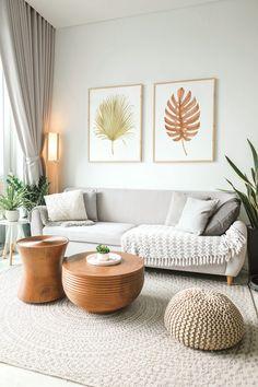 Boho Living Room, Living Room Modern, Living Room Designs, Living Room Decor Inspiration, Cozy House, Decoration, Diy Bedroom Decor, Interior Design, Boho Chic Interior