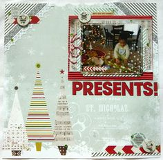 Christmas scrapbook layout created by @Jennie Garcia  using tombow adhesives