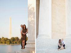 Fun Washington, DC engagement shoot by the Jefferson and Washington Monuments!  www.nickwelshphotography.com