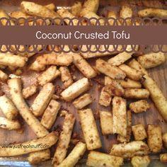 Coconut Crusted Tofu - this simple recipe for crispy, rich, savory tofu is my favorite - vegan, vegetarian, gluten free