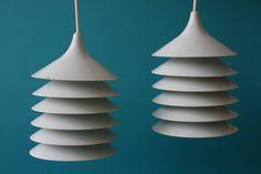set of two Swedish Pendant lights Bent Gantzel door vintagemoodsNL, €72.50