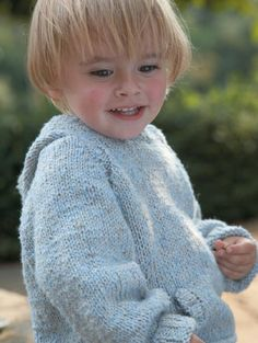 Free knitting pattern - Humbug Hood by Martin Storey in Rowan Classic Natural Silk Aran (Discontinued)