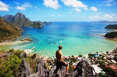 Hit the road - the trails around El Nido, Palawan, Philippines provide great views of the surrounding limestone landscape