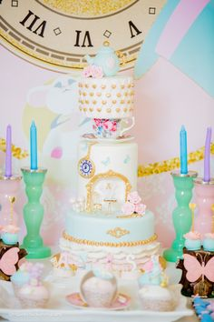 Kara's Party Ideas Pastel Glam Alice in Wonderland Birthday Party Fairytale Birthday Party, Rapunzel Birthday Party, Pig Birthday, Birthday Parties, Birthday Ideas, Alice In Wonderland Birthday, Alice In Wonderland Tea Party, Snow White Birthday, Mad Hatter Tea