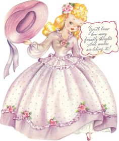 Free Birthday Cards For Girls | FREE ViNTaGE DiGiTaL STaMPS**: Free Vintage Image - Sweet Retro Card ...