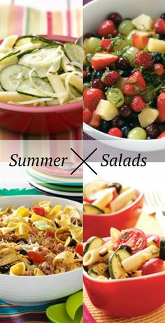 Summer Salad Recipes from Taste of Home including: Grilled Corn Pasta Salads, Potato Salads, Fruit Salads, Taco Salads and more!