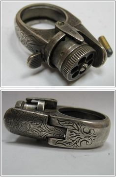 Pistol ring.  Just like the 1 featured on Pawn Stars.  Cool!